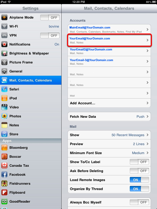 Setting Up Your Jub Jub Email On An IPad (iOS 4.2
