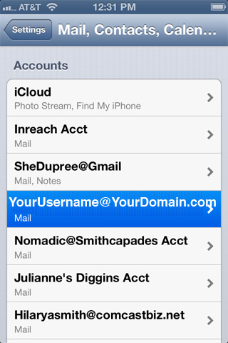 change gmail password on iphone x